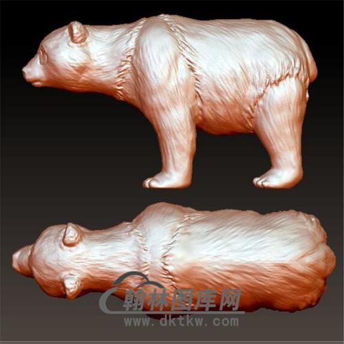 大熊猫立体圆雕图(YDW-067)