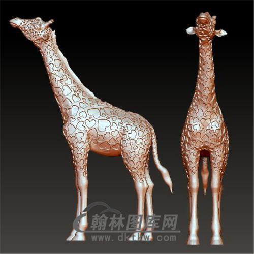 长颈鹿立体圆雕图(YDW-068)