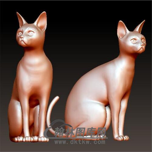 猫立体圆雕图(YDW-070)