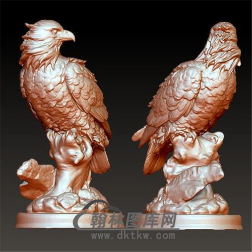 老鹰摆件立体圆雕图(YDW-072)