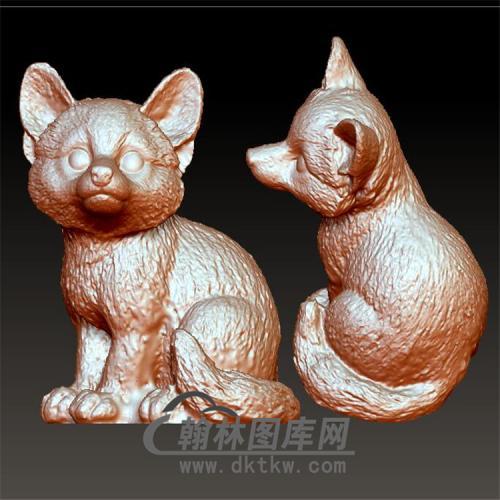 小熊猫立体圆雕图(YDW-073)