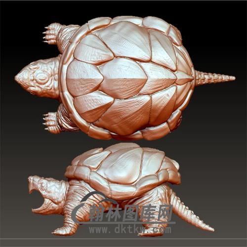 黄金鳄龟立体圆雕图(YDW-074)