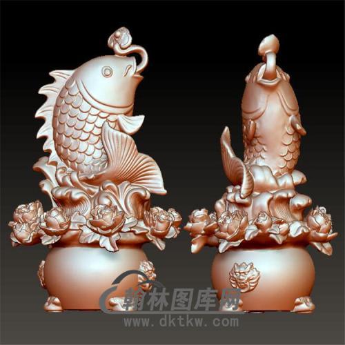 鱼立体圆雕图(YDW-075)
