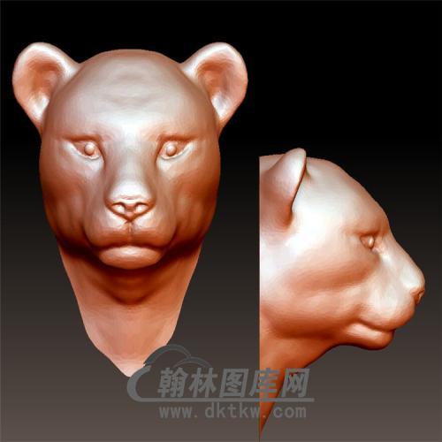 豹立体圆雕图(YDW-077)