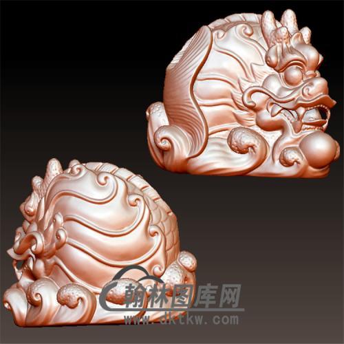 鳌鱼立体圆雕图(YDW-076)