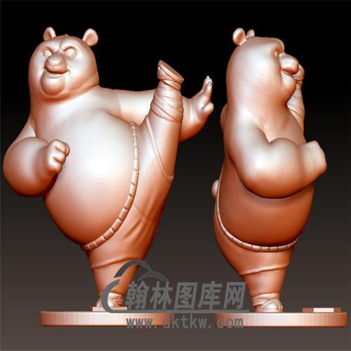 功夫熊猫立体圆雕图(YDW-081)