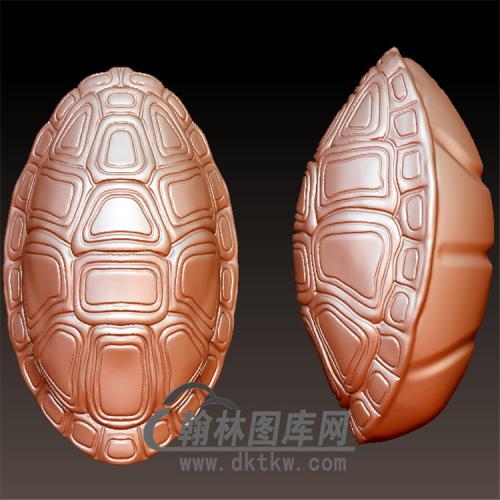 龟壳手串立体圆雕图(YDW-082)
