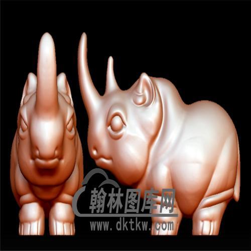 卡通犀牛立体圆雕图(YDW-084)