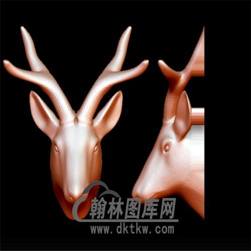 鹿头立体圆雕图(YDW-086)