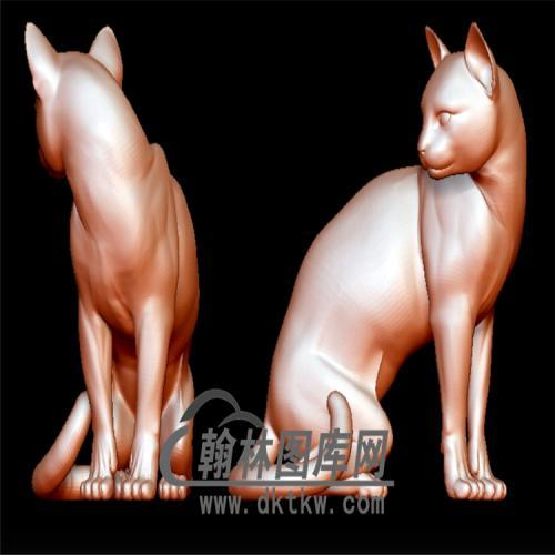 猫立体圆雕图(YDW-087)
