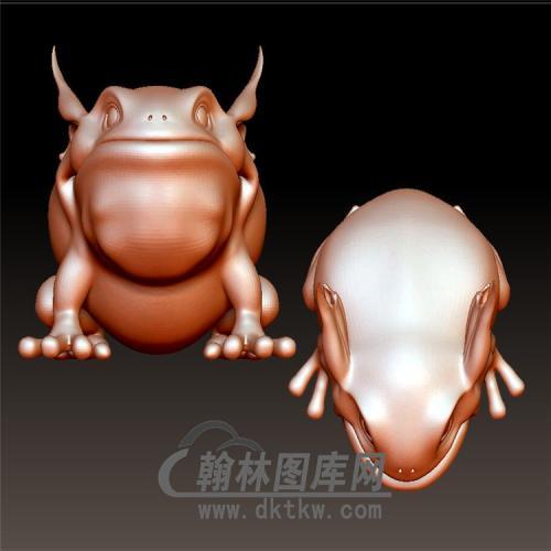 青蛙立体圆雕图(YDW-090)