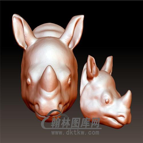 犀牛立体圆雕图(YDW-092)