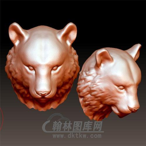 熊头立体圆雕图(YDW-096)