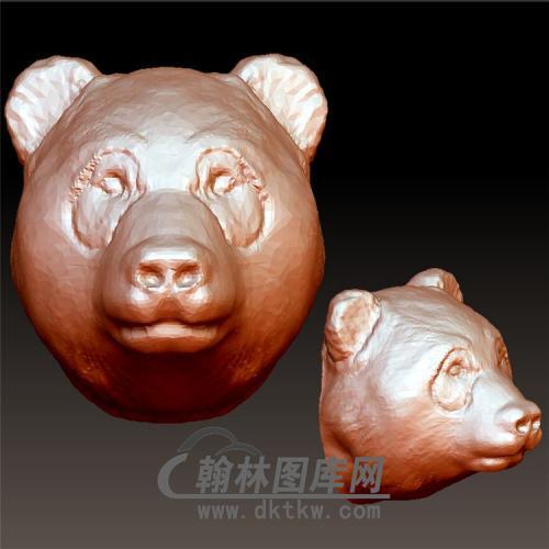 熊头立体圆雕图(YDW-097)