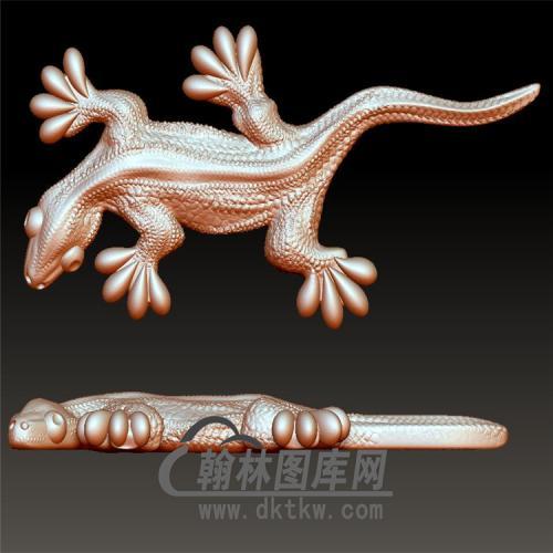 蜥蜴立体圆雕图(YDW-094)