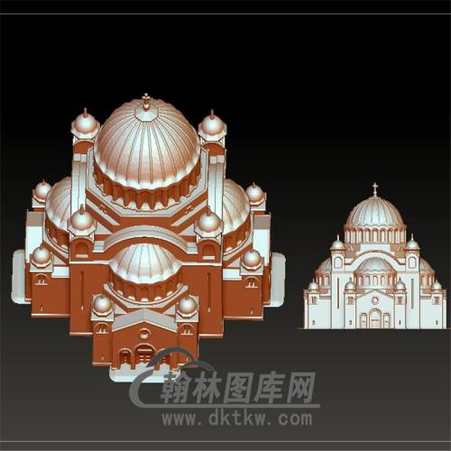 yjz-760城堡立体圆雕图