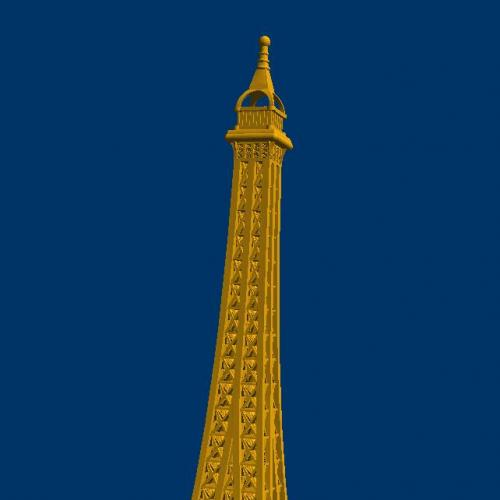 埃菲尔铁塔立体圆雕图(YJZ-763)