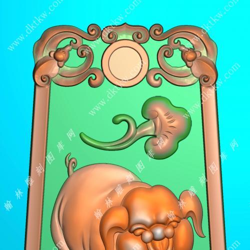 蝙蝠牌头猪挂件精雕图(GZ-044)