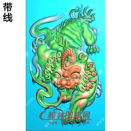 招财貔貅46牌带线精雕图(PX-045)