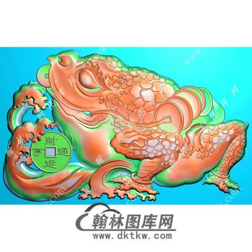 财运亨通蟾蜍挂件有线精雕图(JC-015)
