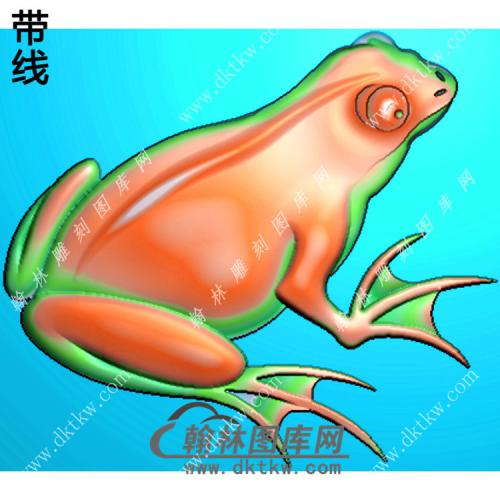 青蛙挂件带线精雕图(JC-011)