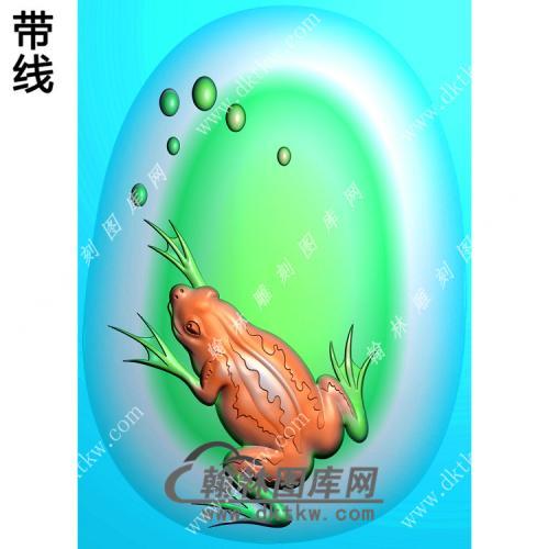 椭圆青蛙挂件带线精雕图(JC-013)
