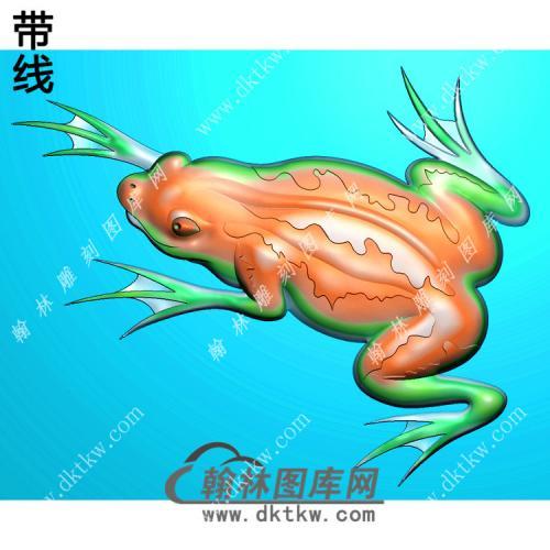 蛙挂件带线精雕图(JC-009)