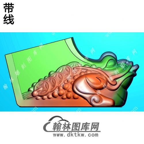 玉雕蟾蜍靴子挂件带线精雕图(JC-023)