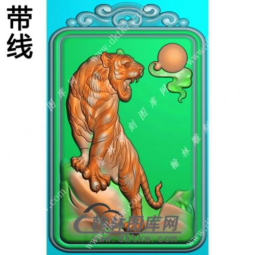 上山虎挂件带线精雕图(GH-079)