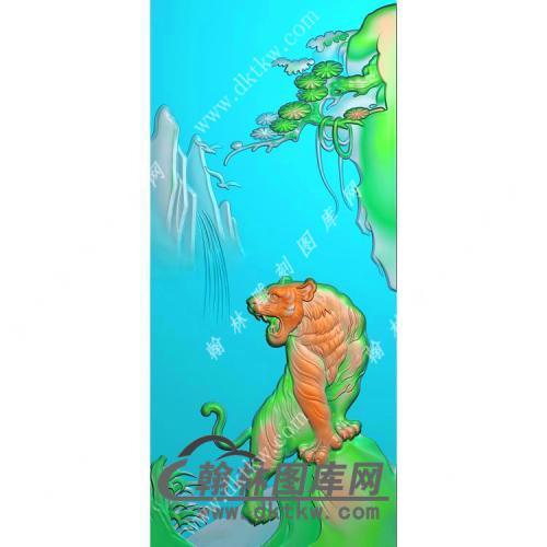 上山老虎牌子精雕图(GH-038)
