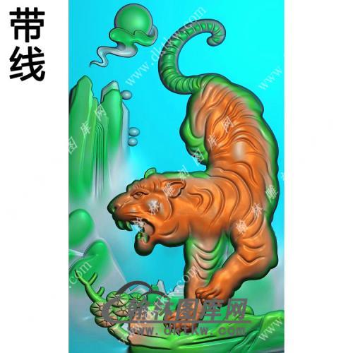 下山老虎46牌挂件带线精雕图(GH-075)
