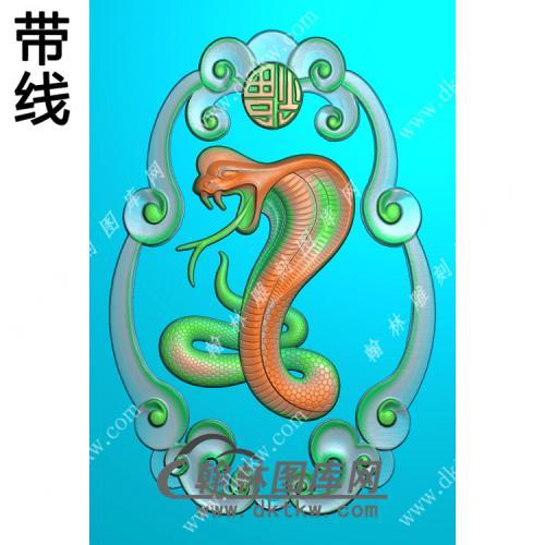 蛇挂件带线精雕图(GS-040)