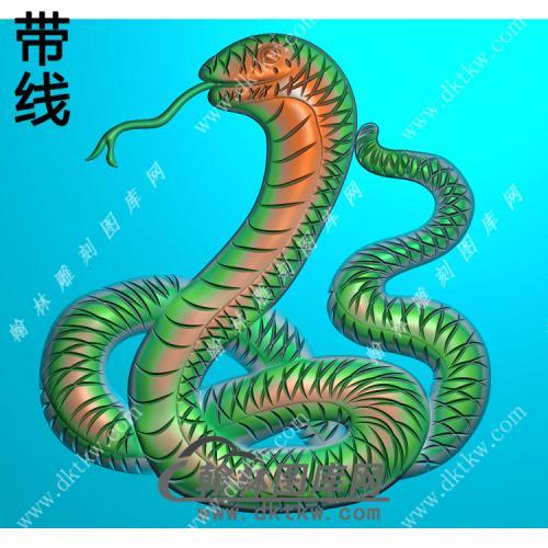 蛇挂件素材带线精雕图(GS-007)