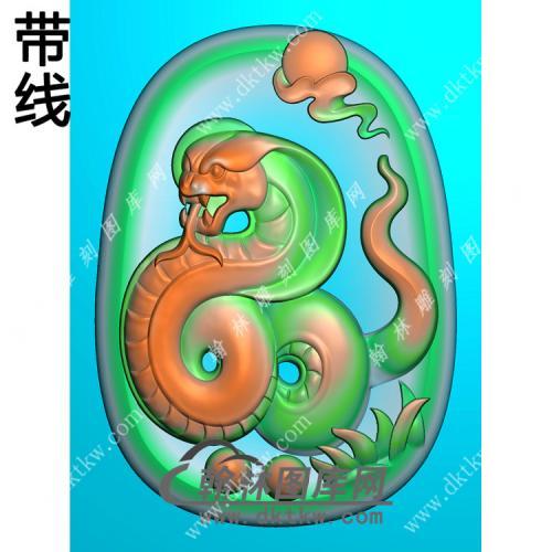生肖蛇挂件带线精雕图(GS-045)