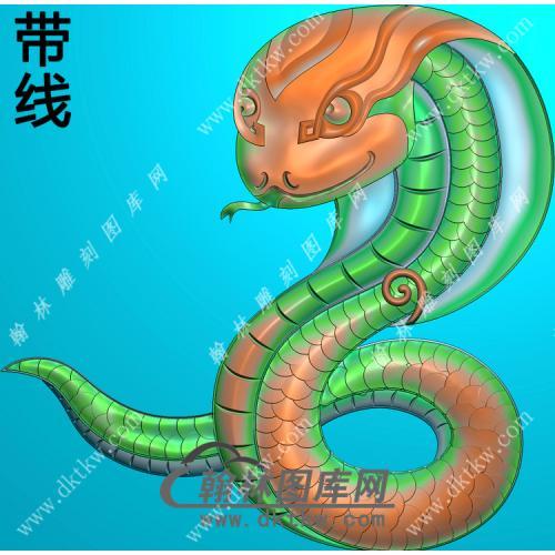 生肖蛇挂件带线精雕图(GS-052)