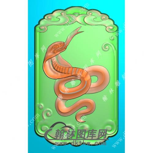 生肖蛇挂件精雕图(GS-039)