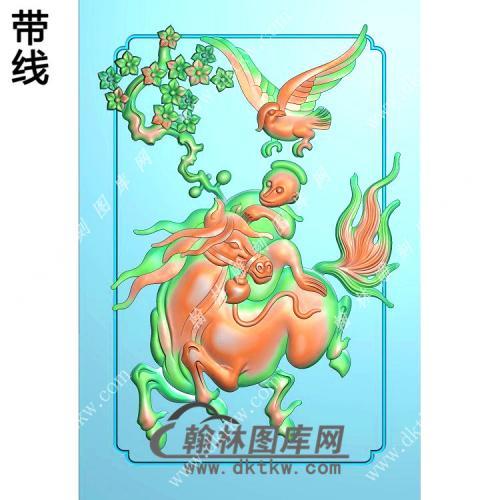 弼马温46牌带线精雕图(GM-130)