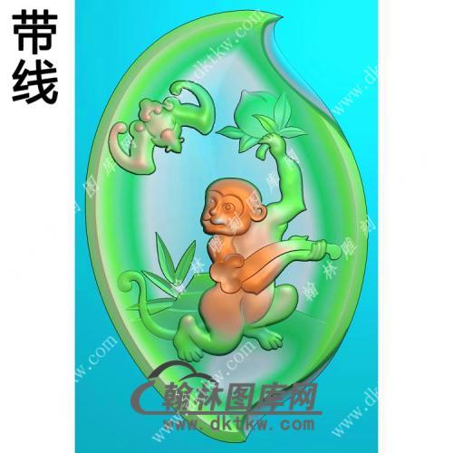 蝙蝠猴子挂件带线精雕图(GHZ-041)