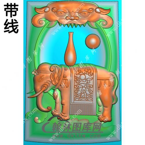 太平有象大象挂件带线精雕图(GX-013)