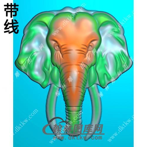 象头挂件带线精雕图(GX-012)