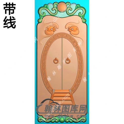 福临门蝙蝠挂件带线精雕图(BF-027)