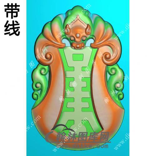 蝙蝠寿字福寿挂件带线精雕图(BF-032)