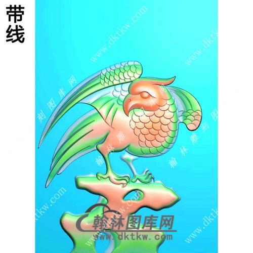 老鹰46牌挂件带线精雕图(GJY-061)