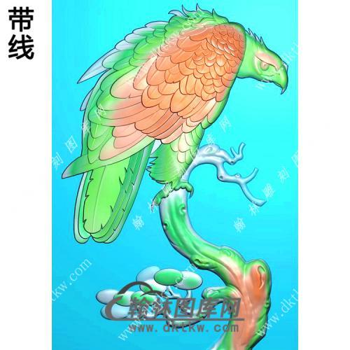 老鹰46牌挂件精雕图(GJY-068)