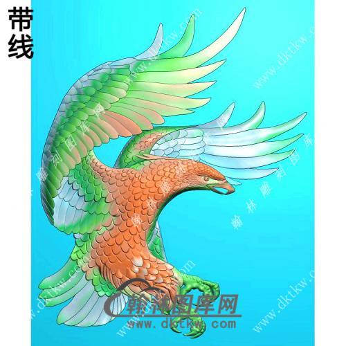 老鹰挂件带线精雕图(GJY-033)