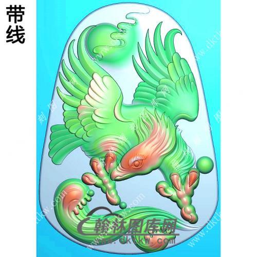 老鹰挂件带线精雕图(GJY-048)