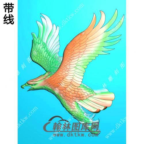 老鹰挂件精雕图(GJY-026)