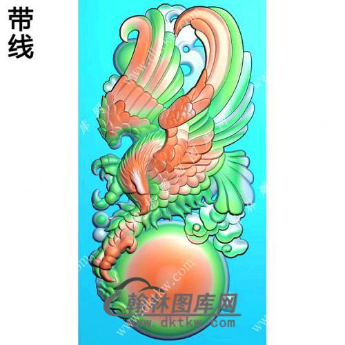 老鹰抓球挂件精雕图(GJY-042)