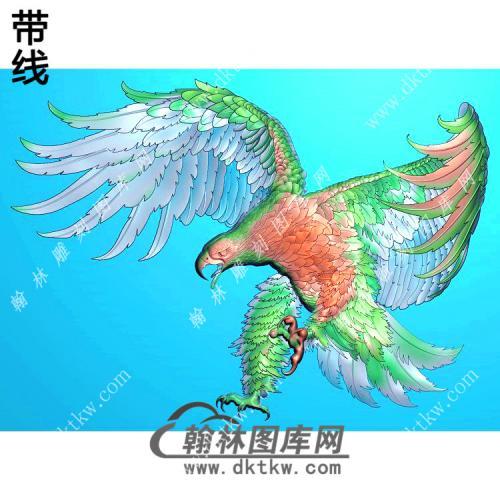 威猛雄鹰老鹰挂件带线精雕图(GJY-037)