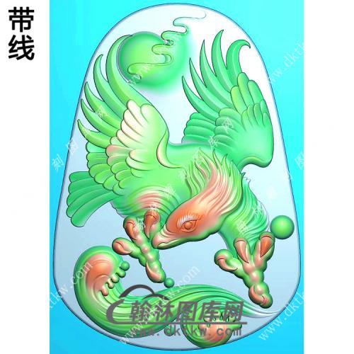 雄鹰挂件带线精雕图(GJY-044)